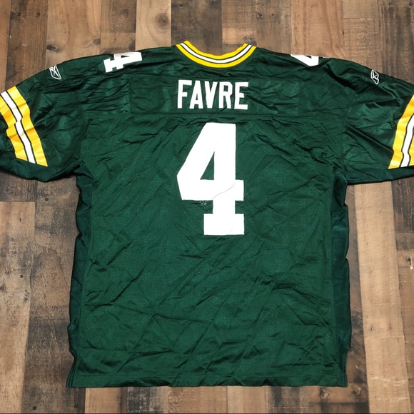 check out b3377 20e6e Green Bay Packers #4 Favre Stitched NFL NFL jersey